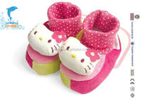 china suppliers wholesale custom plush babay stuffed indoor shoes