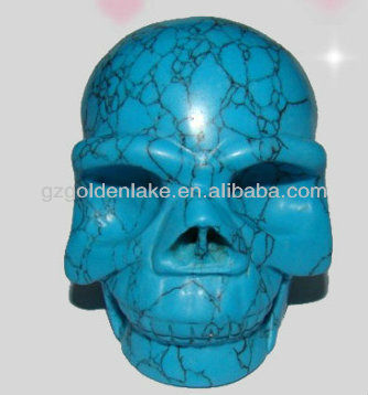 Wholesale gemstone hand-made carvings(Skull)