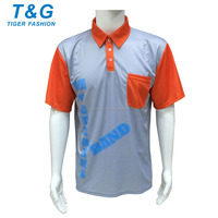 Mesh fabric oem service men custom sublimation polo