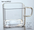 clear pyrex glass coffee cup/square glass cup/glass drink cup