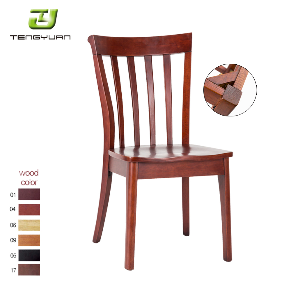 Morden wooden legs dining chair wooden chair design for restaurant