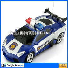1:24 Police RC Radio Remote Control emulation Car Model Toy w/ Antenna