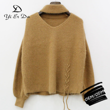Latest New Design Fashion Knitted Fur Sweaters