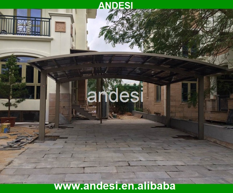 double fiberglass carports with polycarbonate sheet