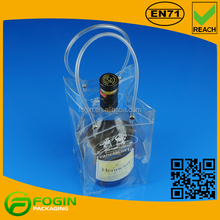 New Design Clear PVC Plastic Portable Wine Cooler Bag Factory Supply