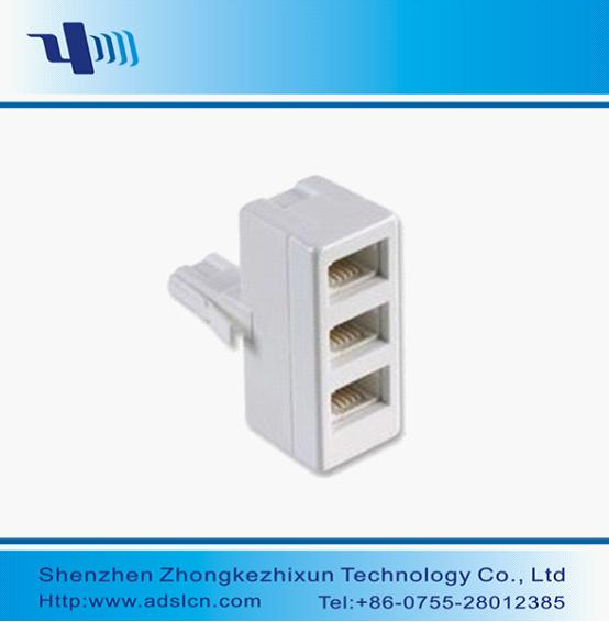3 way phone jack splitter shenzhen factory