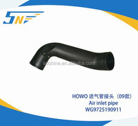 Sinotruk spare parts HOWO Extended Cab Dump Truck Air Inlet pipe WG9725190911