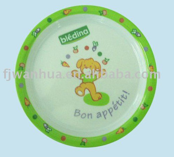 Melamine children plate