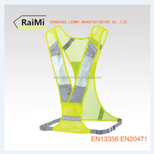 Customized Night Cycling Outdoor Sports Fluorescent Yellow Reflective Running Flashing LED Safety Vest