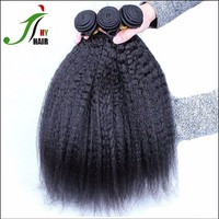 Wholesale Price Material Best Brazilian Hair Weaving Natural Color Yaki Hair Extension Kinky Straight Yaki Hair Weave