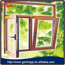 Wholesale double tempered clear glass tilt up aluminium window in guangzhou china