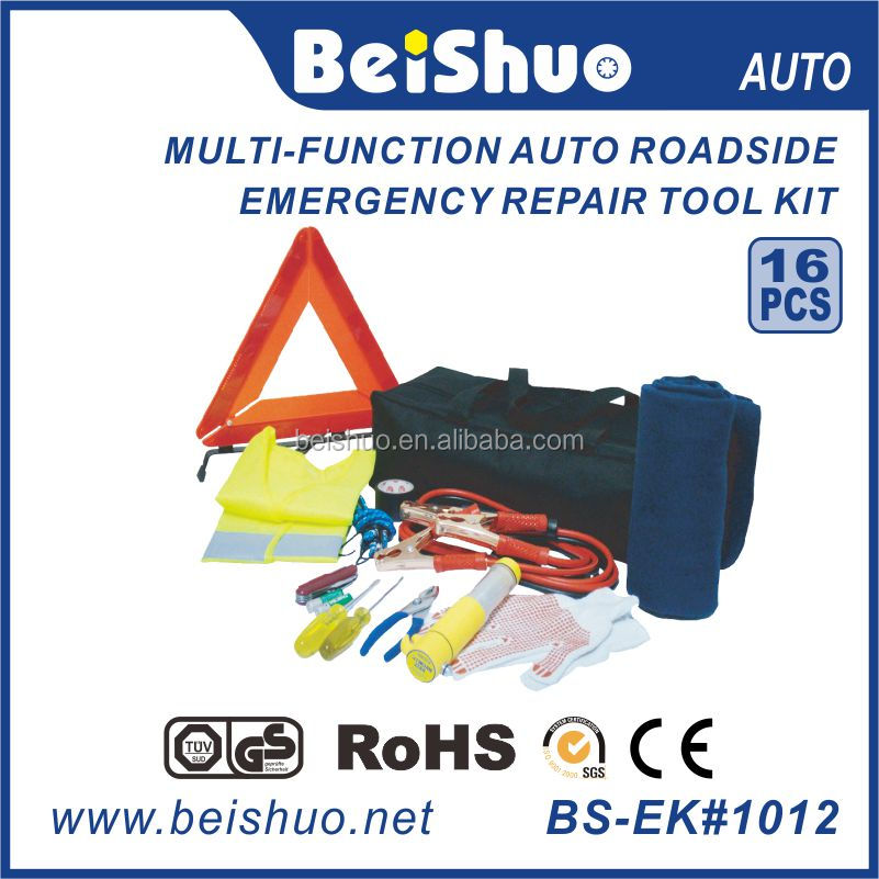 BS-EK#1012 Roadside auto emergency tool kit, car emergency tool set