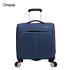 2017 hot selling silent spinner wheels nylon 16 inch business boarding pilot trolley bag