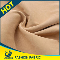New Products Small MOQ Spandex genuine suede fabric