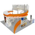 20x20' custom circular aluminum double deck trade show booth