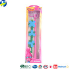 FJ brand beautiful colorful hair extension packaging cheap price trolls clip in hair extension for girl