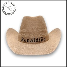 Promotional polyester cowboy hat with custom logo printing