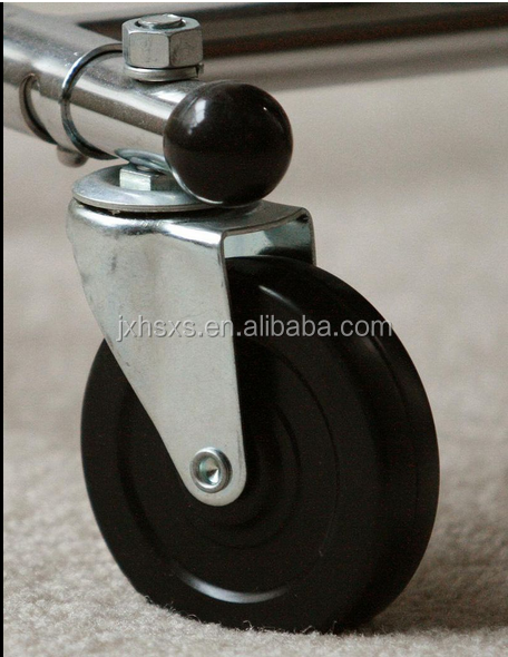 double ball bearing polyurethane fixed bronze casters