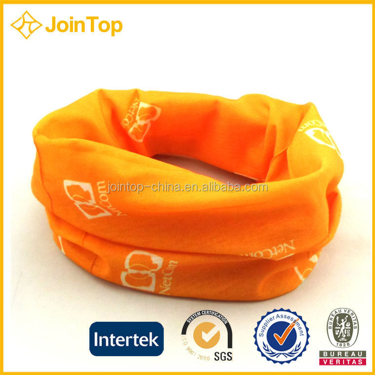 Ladies Blossom Orange Head Scarf Soft Gauze Cotton