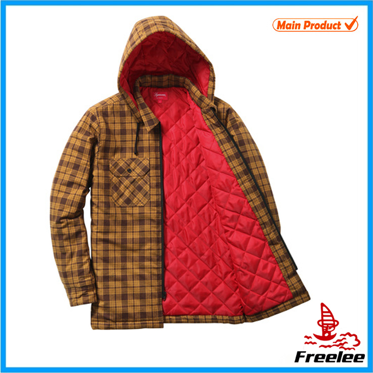 Lightweight quilted flannel jacket for young men