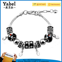 Fashion European 925 Silver Custom Charms Bead Chain Bracelets for Women,Boy and Girl Friendship Bracelet