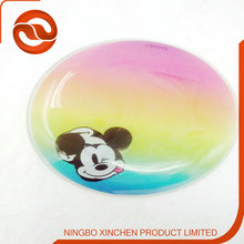 Creative coasters,transparent cups liquid coaster water plate heat insulation pad sample custom factory