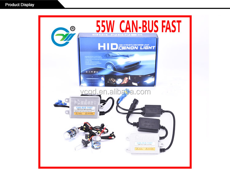 canbus fast start hid xenon kit 35W 55W car headlight xenon bulb 5000lm high quality canbus ballast