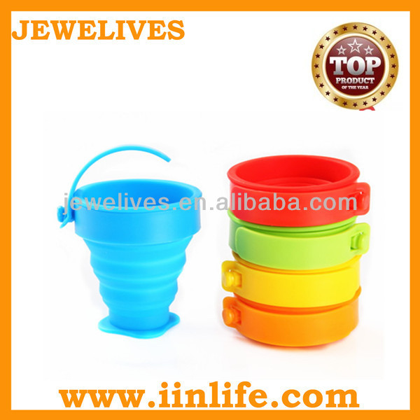 Food Grade 20 oz travel Silicone collapsible tea cup
