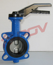 Handle type wafer connection soft seal water butterfly valve parts