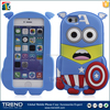 new products captain America II silicone soft case for iphone 5/ 5S