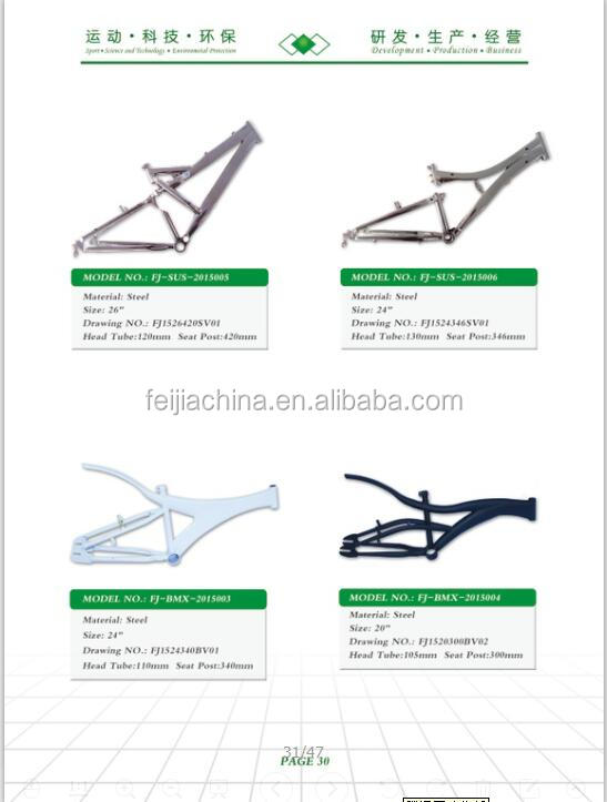 2017 latest china laddy trekking fat bike frame frame