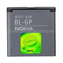 3.7v 700mah rechargeable li-ion mobile phone battery BL-6P for nokia 7900/6500C