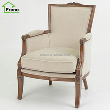 FN-1622 Rose Carved Furniture Antique Design Wooden Armchair Sofa