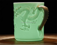 high quality classical dragon embossed reusable blank sublimation mugs