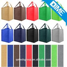 professional design double handles reusable pp non woven shopper tote bag