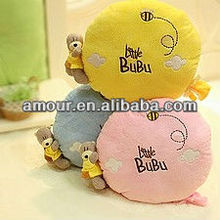 super soft candy pillow with bear stuffed yellow/pink/blue cartoon round cushion new lovely car cushion office nap pillow toys