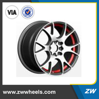 ZW-AU-6015 Hign quality aluminum alloy wheels with best price, 8 hole, PCD100-114.3 wheels