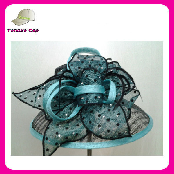 fancy Ladies sinamay fascinator hats for party and wedding wholesale church hats