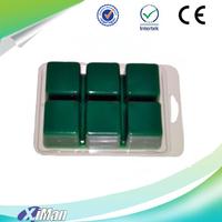China Supplier 6 Cavity Wax Melt Clamshell Molds, Wax Tart Clam Shells