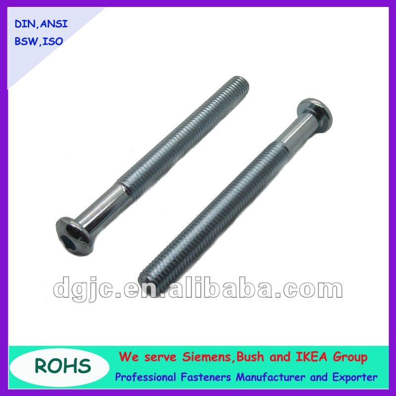Dongguan fastener supplier pan hex socket head machine screw with internal thread