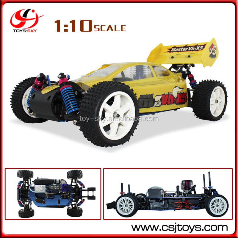 15CXP Engine Metal Monster 4WD Racing Nitro Buggy 1:10 RC Car Hobby Gas Power Car With Two Speed