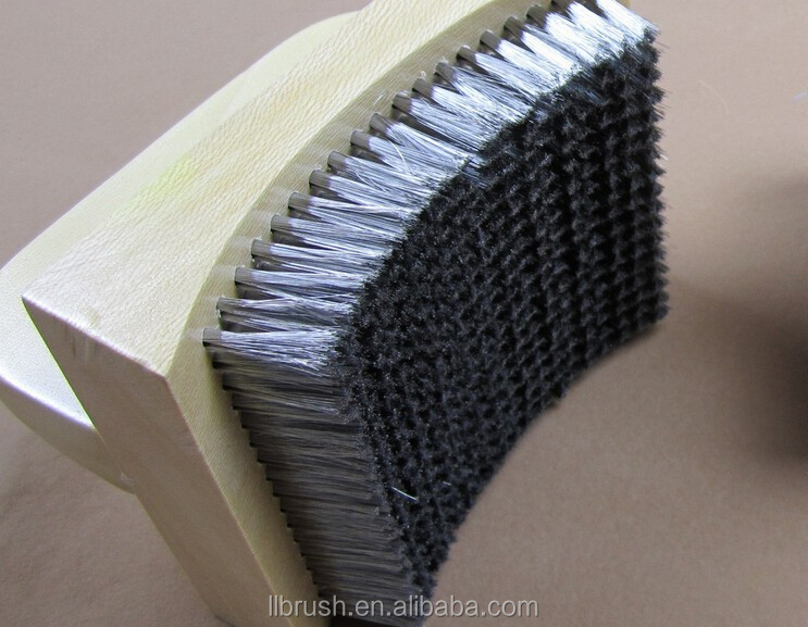wooden handle steel wire polishing brush