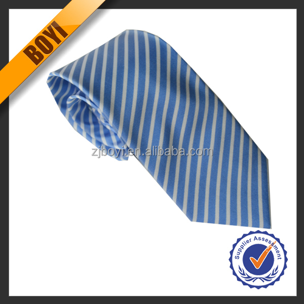 Stylish Cambridge Blue Color Polyester <strong>Ties</strong> For Wholesale