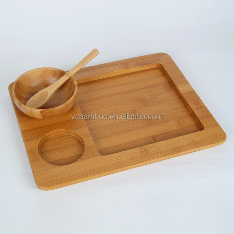 restaurant rectangular wood plate