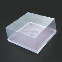 Rectangular round soup cup bowl with lid disposable cake box bakery pastry plastic food container