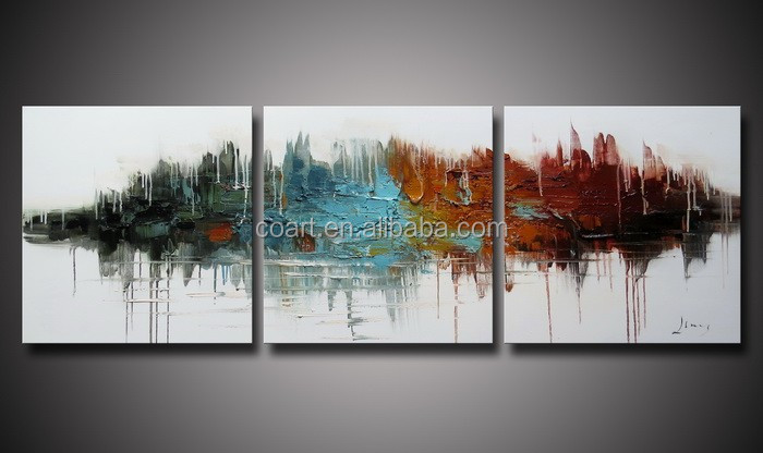 Large Outdoor Decorative Wood Wall Art Oil Painting on Canvas