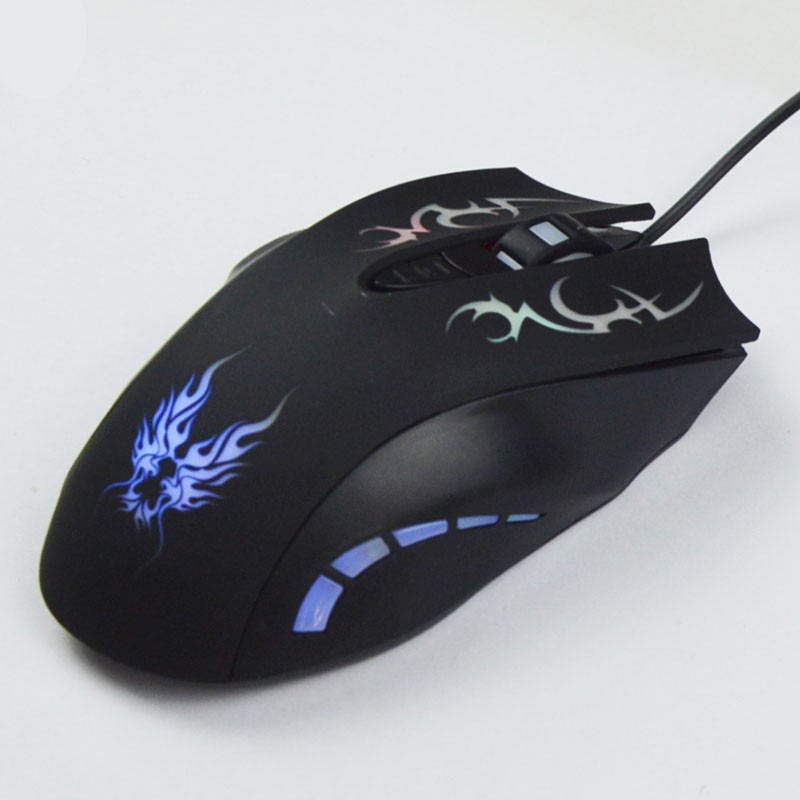 Hot selling unique 6d wired gaming optical mouse for game lover