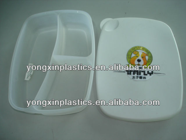 sectioned food containers in plastic for family food storage container