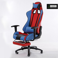 Dickson red and blue mixture freedom design gaming leather chair