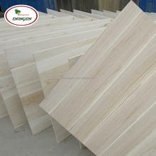 China wood factory supply high quality paulownia panel for drawer sides